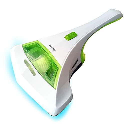 SILVANO Aspirador anti-bacterias para camas, sofás y cortinas. Rayos UV-A (ultravioleta). Con filtro HEPA multicapa. Sacudidor contra pelusas y motas de polvo. Sensores de seguridad incorporados.