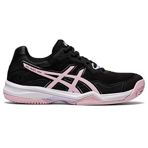 Asics Gel-Padel Pro 4, Indoor Court Shoe Mujer, Black/Pink Salt, 40 EU