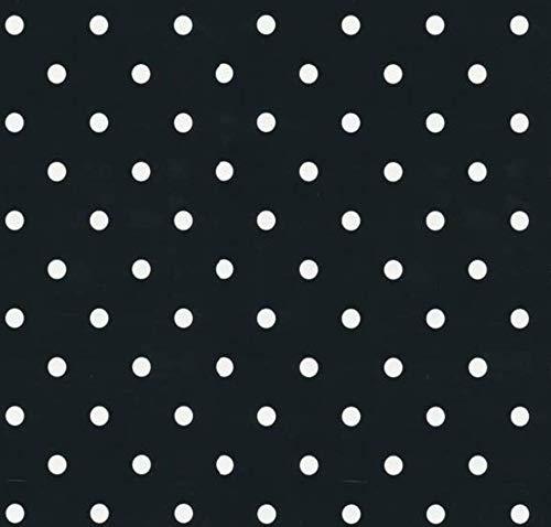 Klebefolie - Möbelfolie Schwarz Punkte - Dots - 45 cm x 200 cm Dekorfolie gepunktet
