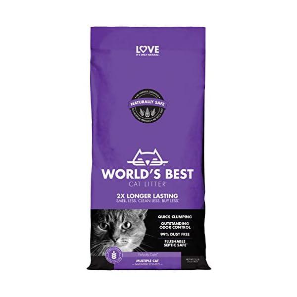 WORLD'S BEST CAT LITTER Multiple Cat Lavender Scented, 32-Pounds