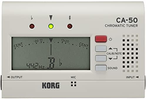KORG クロマチックチューナー CA-50 吹奏楽 ブラスバンド オーケストラ ギター 声楽 アカペラ 個人練習に最適 アウトプット有り 135時間連続稼働 軽量 コンパクト