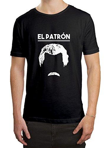 EL Patrón Premium T-Shirt Serie Pablo Escobar Kartell Herren Shirt, Farbe:Schwarz...