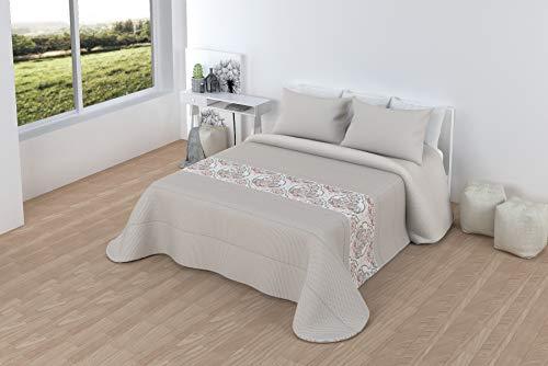LINIVA HOME Comforter Sherpa 2-teilig Elena (90, 105, 135, 150, 180) (Beige, 90)