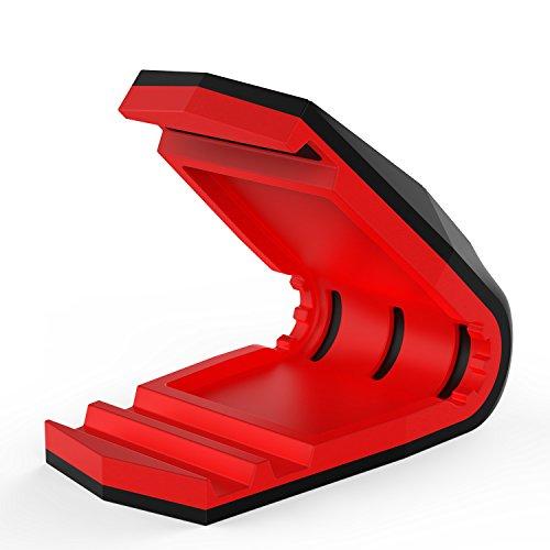 PunkCase Viper Telefon Halter Universal Armaturenbrett montieren für alle Smartphones Low Profil schlankes Design EIN Hand Betrieb sicherer Halt auch bei heißen Temperaturen rot