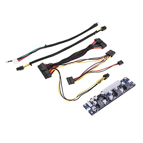 Módulo de Fuente de alimentación DC-ATX, módulo de alimentación DC-DC con Interfaz: CPU 4Pin, SATA Power, IDE 4Pin, ATX 24Pin, DC 5525, 16V-24V a 19V Switch PSU para Mini ITX