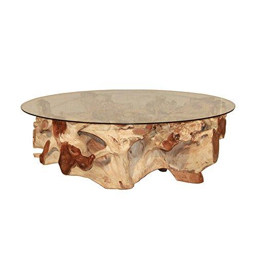 Vintage-Line Beistelltisch Erosi Teakholzwurzel Couchtisch Ø 125 cm Teakholz Tisch
