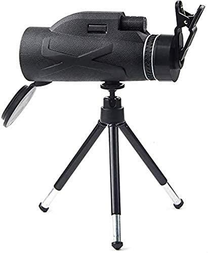 ZHTY Telescopio monocular, 80X100 de Alta Potencia y monocular HD con Prisma BAK4, Clip Simple para teléfono móvil + telescopio con Soporte telescópico de aleación de Aluminio