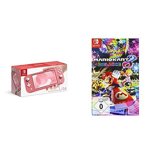 Nintendo Switch Lite, Standard, Koralle + Mario Kart 8 Deluxe [Nintendo Switch]