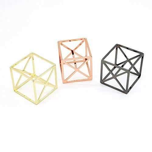 IETONE 3 Piezas Huevo de Maquillaje Cubo de Rubik de Metal Estante de Almacenamiento de Huevo de Belleza Soporte de Secado de Esponja de Maquillaje Soporte de Exhibición de Soplo de Polvo