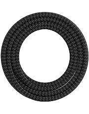 Calex Creations - textiel omwikkeld snoer - zigzag patroon - Zwart/Grijs - 3m