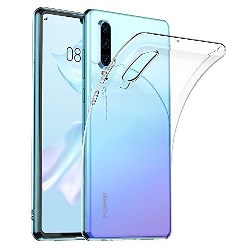 Preisvergleich Produktbild opamoo Handyhülle für Huawei P30,  Huawei P30 Hülle Crystal Schutzhülle Huawei P30 Silikon Hülle Ultra Dünn TPU Bumper Case Anti-Scratch Stoßfest Soft Hülle für Huawei P30 Case Cover-Transparent