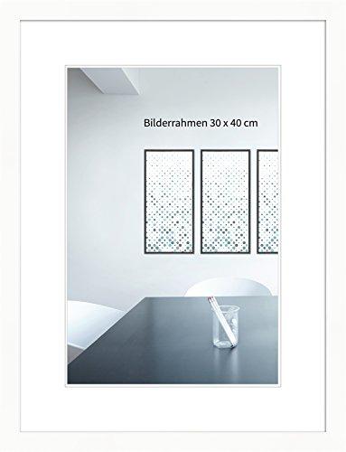 WANDStyle Bilderrahmen Modern 30x42cm DIN A3 I Farbe: Weiß I Fotorahmen I klassischer weißer Bilderrahmen I Made in Germany I H430