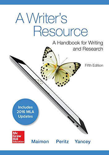A Writer's Resource 5e MLA 2016 UPDATE