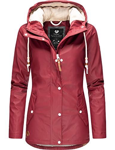 Ragwear Damen Mantel Wintermantel Regenmantel Marge Rot20 Gr. M