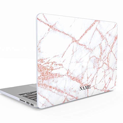 Hard Case Cover Funda Personalizada Rosa Blanco Marmol Custom Initial Name Pink Marble Create Your Own Customized Macbook Air 13 Pulgadas 13-13.3 Inch 13 Modelo: A1466 // A1369