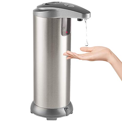 Focus Line Touchless Automatic Soap Dispenser with Waterproof Base Infrared Motion Sensor, Stainless Steel Dish Liquid Hands-Free Auto Hand Soap Dispenser for Bathroom Kitchen Restaurant