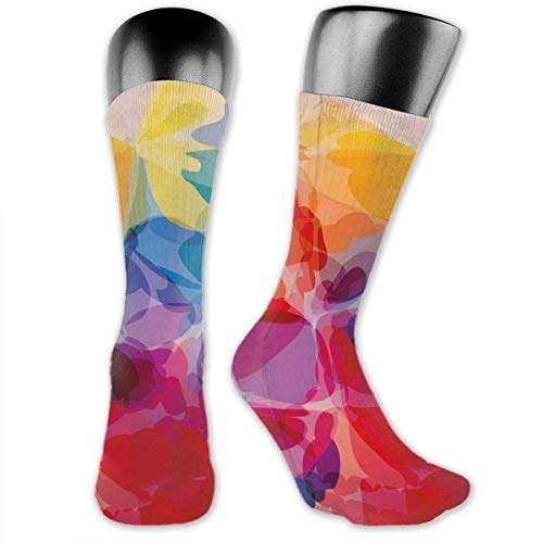 Nigel Tomm Compression Medium Calf Socks blühende Heckenrosen mit belaubten Stielen Art Nouveau Inspirations