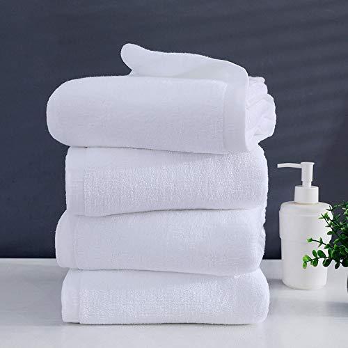 WLQCPD Handdoek,Grote witte badhanddoek dikke katoenen douche gezicht handdoeken Home badkamer hotel volwassenen handdoek, 70x150cm 600g