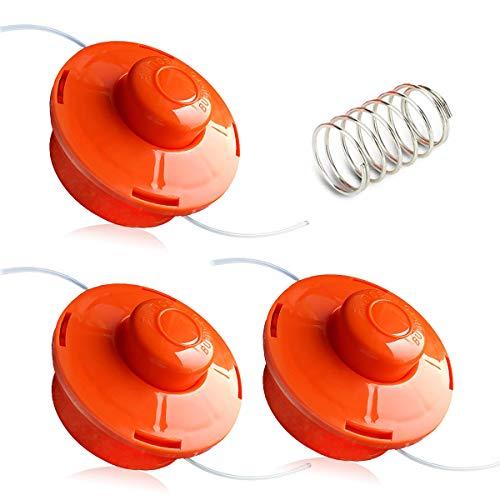 QAQGEAR FS1 Cabezal de Corte con Resorte, desbrozadora Accesorios para Herramientas de jardín Carrete de Repuesto para desbrozadora de Gasolina - Naranja