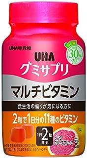 UHA味覚糖 グミサプリ マルチビタミン ピンクグレープフルーツ味 ボトルタイプ 60粒 30日分 1個 × 6個セット