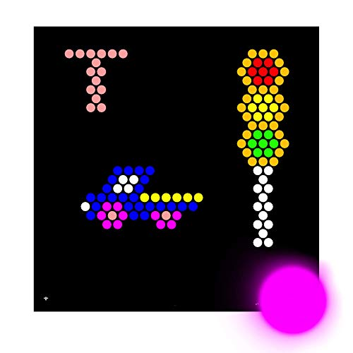 IllumiPeg Alphabet Letter Refill templates for Lite Brite Cube, Flat-Screen, and Four Share (26 Sheets, 7x7)