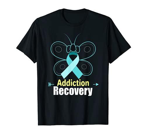 Adicción a la mariposa Recuperación Cinta Adicción Conciencia Camiseta