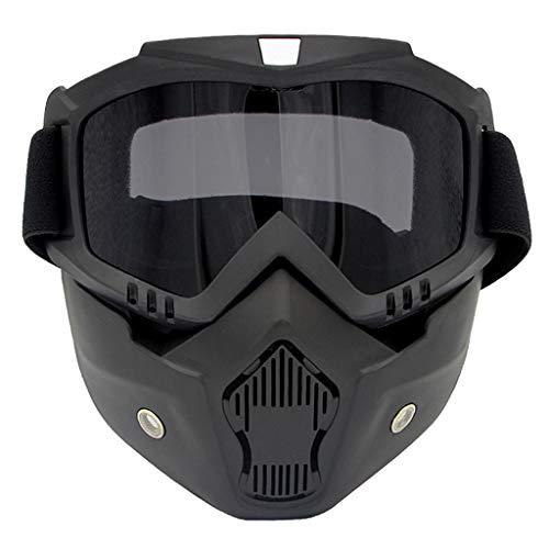 #N/a Gafas de Moto con Gafas Desmontables para Esquiar en Motos de Nieve Cyclis - Gris