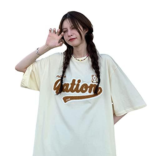 韓国ファッション半袖 韓国ファッション 韓国 レディース tシャツ レデ 夏 韓国 tシャツ tシャツ レディースィース 韓国 (アプリコット)