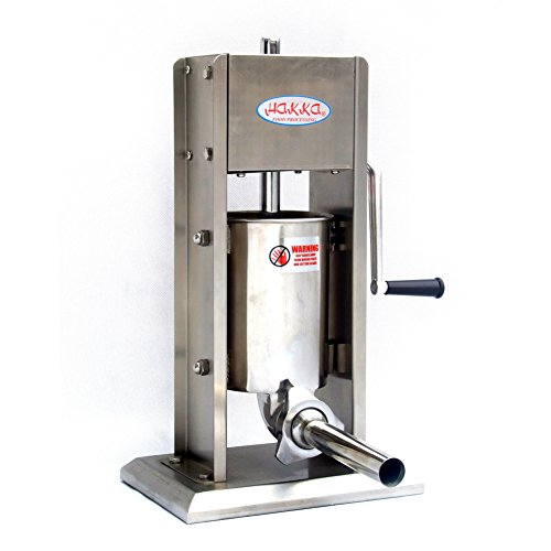 Hakka 7 Lb/3 L Sausage Stuffer 2 Speed Stainless Steel Vertical 5-7 Lb Sausage Maker by HAKKA BROTHER