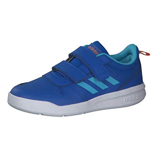 adidas Unisex Kinder Tensaur C Leichtathletik-Schuh, GLOBLU/BRCYAN/AMBTIN, 35 EU