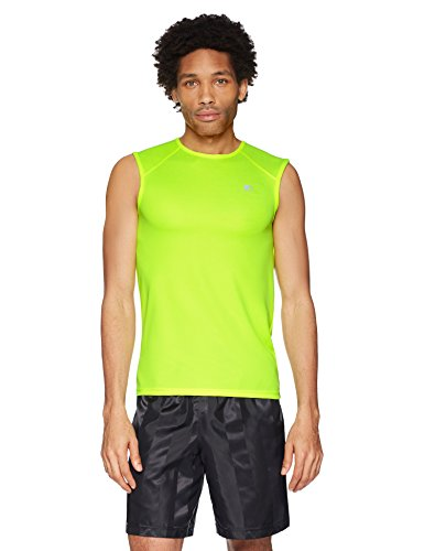 Starter Men's Sleeveless Muscle Tech T-Shirt, Amazon Exclusive, Safety Yellow, Large