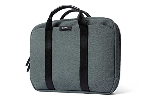 """Bellroy Laptop Brief 15"""", Woven Laptop Bag (15"""" Laptop, Notes, Cables, Everyday Essentials) - Moss"""