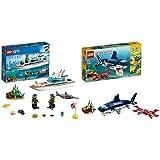 Lego City, Yacht Per Immersioni, 60221 & Creator, Creature Degli Abissi, 31088
