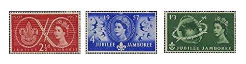 1957Welt Scout Jubilee Jamboree GB Briefmarken–Mint Zustand (Set von 3Briefmarken)
