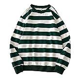 Men's Sweatshirt Basic Striped T-Shirt Crewneck Long Sleeve Shirt Casual Blouse Pullover
