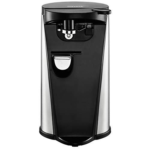 ONVAYA elektrischer Dosenöffner aus Edelstahl | 3 Funktionen | Flaschenöffner | Messerschärfer | Deckelöffner