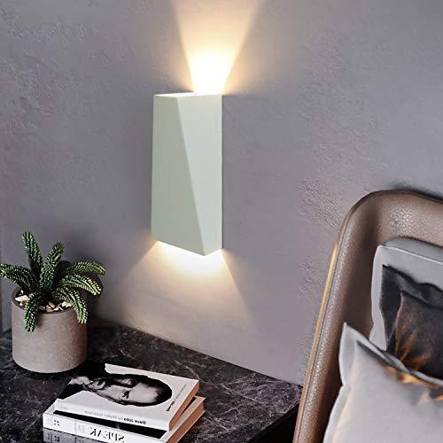 ZMH LED Wandleuchte Innen Warmweiß 7W Wandlampe Wandstrahler Up Down Innen LED Wandbeleuchtung aus Aluminium für Wohnzimmer Schlafzimmer Treppenhaus Flur, Warmweiß