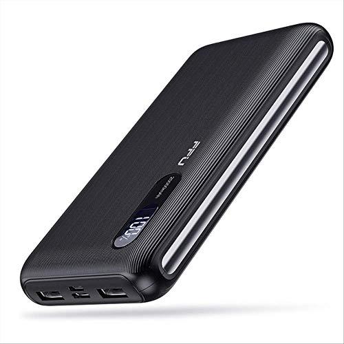 LYSC FPU Power Bank 20000mAh para Xiaomi para iPhone portátil Powerbank 20000 mAh teléfono Poverbank cargador móvil batería externa paquete de batería CHINA negro