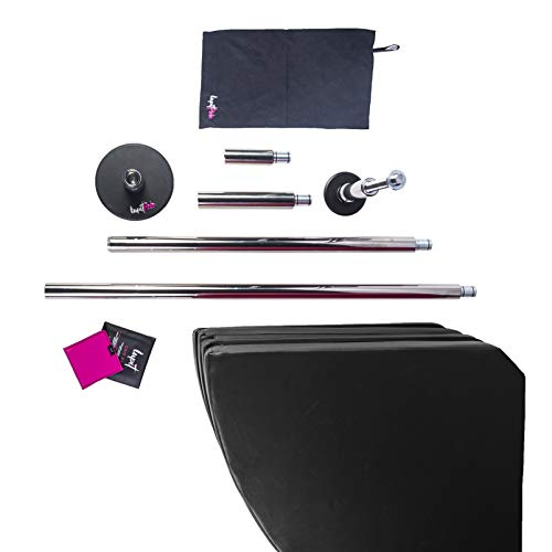 LUPIT Starter Premium Pack with New G2 Revolutionary Classic Chrome Pole 45 mm and Crash Mat 8 cm