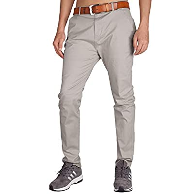 Men's Stretch Chino Casual Pants, Grey