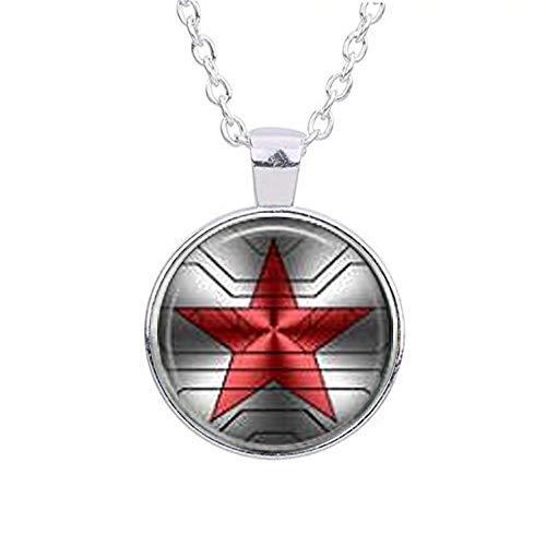 Bucky Barnes aka Winter Soldier Logo Necklace -  web