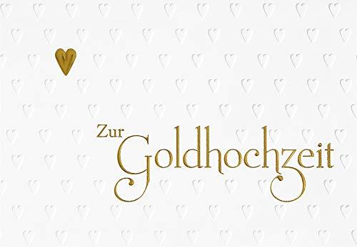 Karte zur Goldhochzeit Lifestyle - Textkarte - 11,6 x 16,6 cm