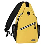 MOSISO Sling Backpack, Multipurpose Crossbody Shoulder Bag Travel Hiking Daypack, Yellow