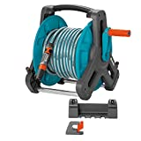 Gardena Classic 50 Wall Hose Kit: Mobile Hose Reel, Space-saving Wall Mount but Removable Anytime, with 20M Hose, Multijet Lance and Various Parts (8009-20)