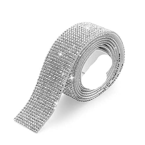 1 yarda de diamantes de imitación de cristal autoadhesivo cinta de adorno...