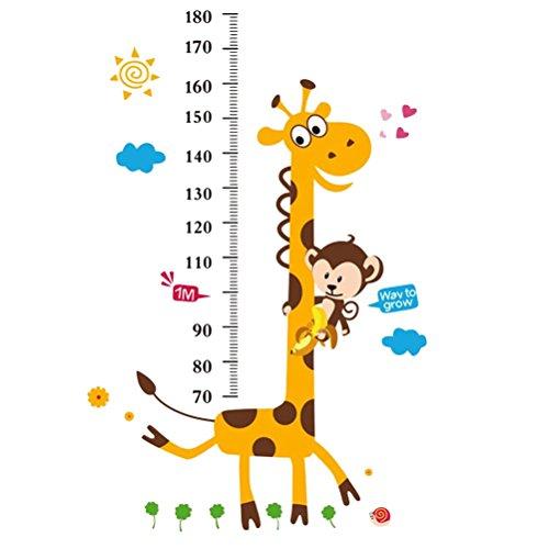 YeahiBaby Medidor de altura ni/ños Gr/áfico de crecimiento para beb/é decoraci/ón de pared la habitaci/ón infantil Flechas