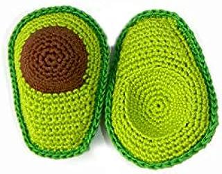 Handmade Avocado Organic Baby Rattle Cotton Fruit Rattles