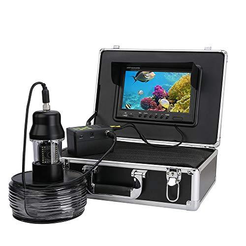 Telecamera Subacquea per la Pesca, DVR Recorder Fish Finder Telecamera da 7 Pollici Impermeabile Rotazione di 360 Gradi HD 700 TVL Telecamera per Pesca Videocamera con Scheda 8G TF (Cable de 20M)