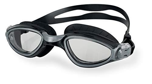 SEAC Axis, Occhialini da Nuoto, Ottimi per la Piscina e le Acque Libere Unisex Adulto, Nero/Argento Lt, Standard
