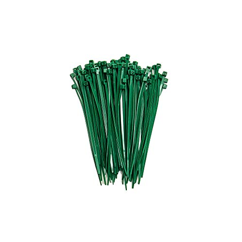 ZipTie.com 4-inch Dark Green Multi-Purpose Cable Tie, 18-lb Tensile Strength, UL Listed, 100-Pack
